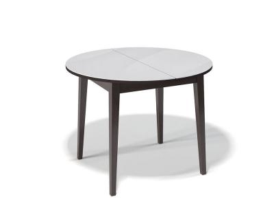 Стол Kenner 1000 M венге/стекло белое
