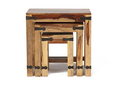 Набор табуреток/столиков Бомбей - 0077 палисандр, натуральный