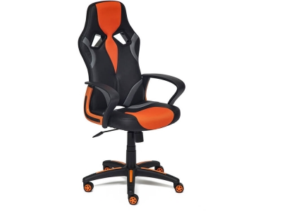 Кресло Runner кож.зам + ткань Чёрный + Оранжевый (36-6/07/12)