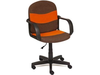 Кресло Baggi ткань Коричневый - Оранжевый