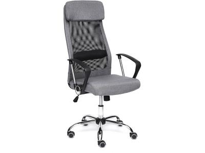 Кресло Profit ткань Серый + Чёрный