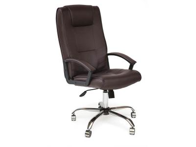 Кресло Maxima хром + кож.зам Коричневый (36-36)