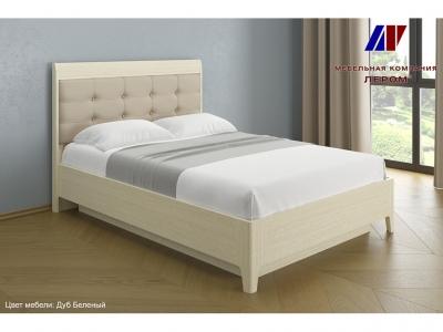 Кровать с мягким изголовьем КР-1072 1400х2000 Дуб Беленый