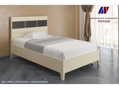 Кровать КР-2761 1200х2000 Дуб Беленый - комбинированный