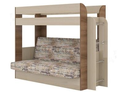 Кровать двухъярусная с диваном Карамель 75