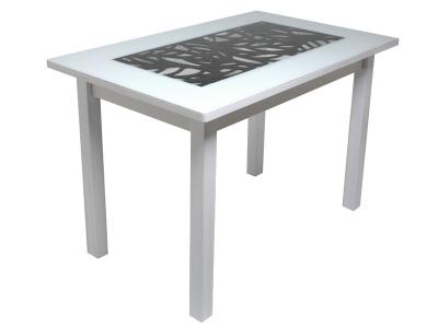Стол Р-15 Ажур-квадро Черны-белый