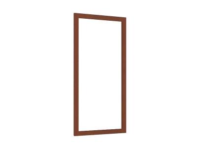 Зеркало настенное Александрия ЛД 125.140.000 594х1062 Орех