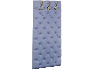 Мягкая панель в прихожую Мишель 750 Велюр Голубой