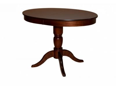 Стол овальный из дерева Фламинго 6 темный орех