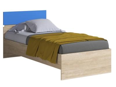 Кровать 900 с основанием Формула Голубой