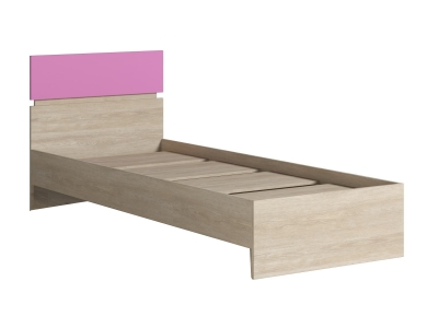 Кровать 900 с основанием Формула розовая