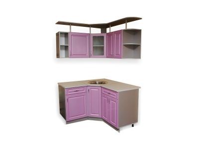 Кухонный гарнитур Ирбея 6.1.4 МДФ Фиолетовый