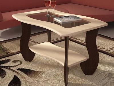 Журнальный стол No 3 с прямоугольным стеклом