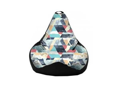 Кресло-мешок Snow Aqua-Black 2 кат