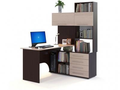Компьютерный стол Сокол КСТ-14 правый Венге/Беленый дуб