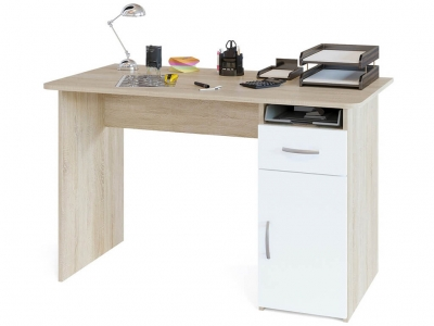 Компьютерный стол Сокол СПМ-03.1 Дуб Сонома/Белый