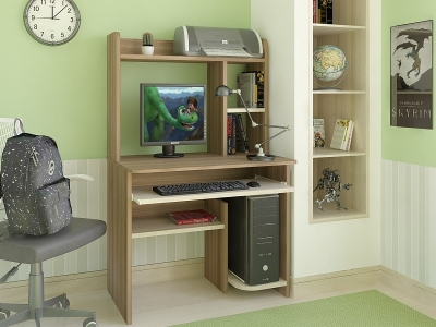 Компьютерный стол Интел 1 Ясень Шимо темный-светлый
