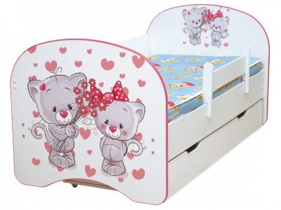 Кровать детская с фотопечатью с 1 ящиком Котята