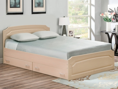 Кровать двойная Венеция 3 матовая с ящиками