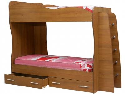 Кровать детская двухъярусная Юниор-1 Орех Гварнери