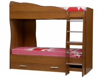 Кровать детская двухъярусная Юниор-2 Орех Гварнери