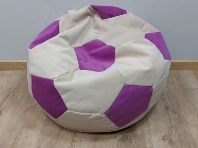 Кресло-мешок Мяч M nice vanilla-shaggy fuchsia