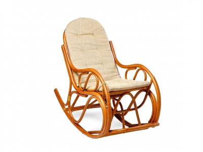 Кресло-качалка 05/04 с тонкой подушкой миндаль матовый