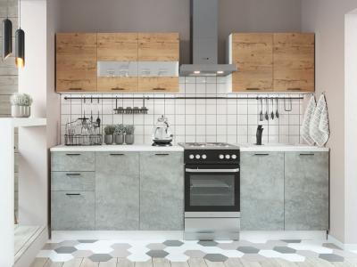 Кухня Дуся 2000 дуб бунратти-цемент