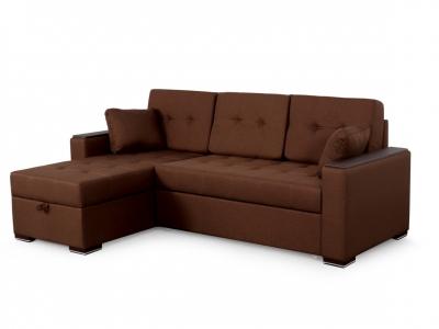 Угловой диван Монако 1 3 вариант Коричневый