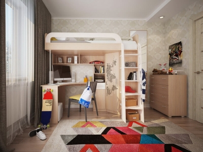 Детский комплекс кровать-чердак Мультиплекс