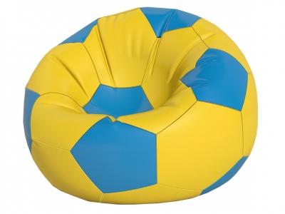 Кресло-мешок Мяч большой нейлон желтый-голубой