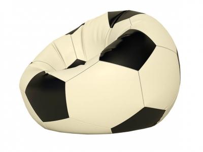 Кресло-мешок Мяч малый нейлон белый-черный