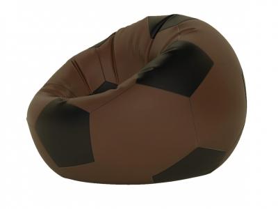 Кресло-мешок Мяч малый нейлон коричневый-черный