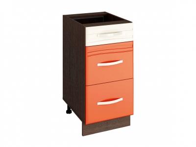 Стол с 3 ящиками - метабоксы 09.59 Оранж 400х530х820