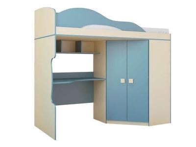 Кровать 2-х этажная со шкафом Радуга Василёк