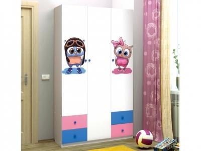 Шкаф 3-х дверный с ящиками Совята 3.1