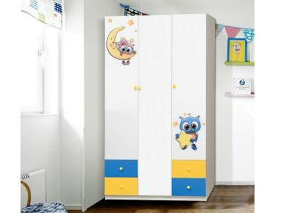 Шкаф 3-х дверный с ящиками Совята 3.2 акция