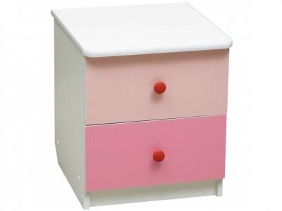 Тумба прикроватная Радуга Ярко-розовый-Светло-розовый