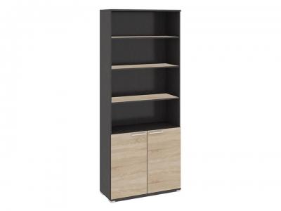 Шкаф для документов с нишей и 2 дверями Успех-2 ПМ-184.16 Венге Цаво, Дуб Сонома