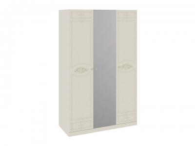 Шкаф для одежды и белья с 2 глух. и 1 зерк. дверями Лорена СМ-254.43.001 Штрихлак