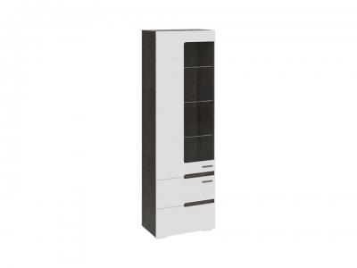 Шкаф для посуды Фьюжн ТД-260.07.25 Белый глянец, Венге Линум