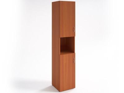 Шкаф для документов узкий НШ-12 Вишня Оксфорд