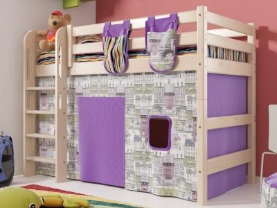 Кровать Соня с прямой лестницей No 5