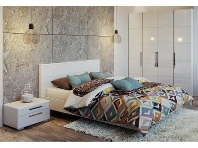 Спальный гарнитур Наоми ГН-208.004 Белый глянец