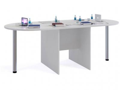 Стол для переговоров Сокол СПР-04 с 2мя приставками Белый