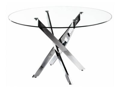 Стол стеклянный Komo 110 Chrome
