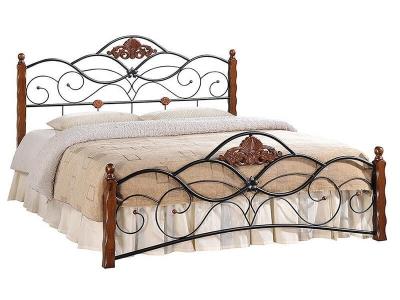 Кровать Canzona 180х200 Чёрный - Красный Дуб