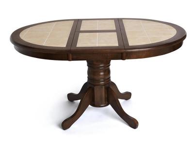 Стол круглый с плиткой раскладной Ct 4257 Тёмный Дуб