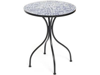 Стол Secret De Maison Romeo Чёрный - Синяя плитка (mod. Pl08-7477)