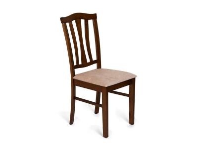 Стул с мягким сиденьем Ct 8162 Тёмный Дуб - Бежевый